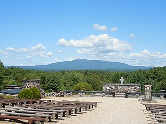 Monadnock Region - View of Mount Monadnock from Cathedral of the Pines in Rindge