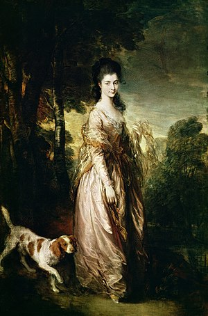 "Elizabeth Conyngham, Marchioness Conyngham - Another portrait commonly misidentified as the Marchioness, called ""Lady Elizabeth Conyngham"" and attributed to Sir Thomas Lawrence.  In fact it is a 1775 portrait of Mrs. Lowndes-Stone by Sir Thomas Gainsborough, also located in the Museu Calouste Gulbenkian, Lisbon."