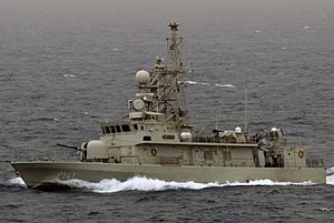 United Arab Emirates Navy - Mubarraz (P141) takes part in the international IMCMEX 13 exercise