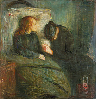 The Sick Child - Edvard Munch, The Sick Child, 1896. The second painting was completed while the artist was living in Paris, Konstmuseet, Gothenburg.