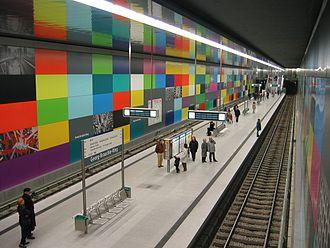 Munich U-Bahn - Georg-Brauchle-Ring station (U1)