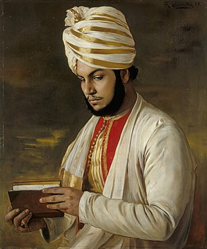 Abdul Karim (the Munshi) - Portrait by Rudolf Swoboda, 1888
