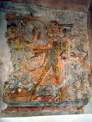 Ixmiquilpan - Mural in the entrance area