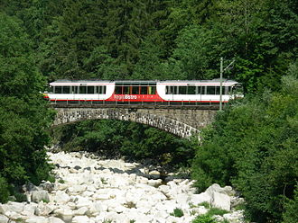 Murg (Northern Black Forest) - Image: Murgtalbahn Raumuenzach Murgbruecke