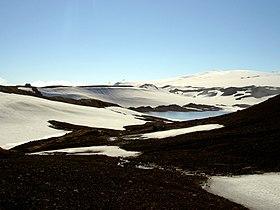 Mýrdalsjökull täcker delar av Katla