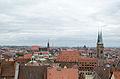 Nürnberg, Blick von der Burg auf St. Lorenz und St. Sebald, 001.jpg