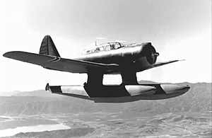 Lake Elsinore, California - Royal Norwegian Navy Air Service Northrop N-3PB carrying out a test flight over Lake Elsinore, California, 1941