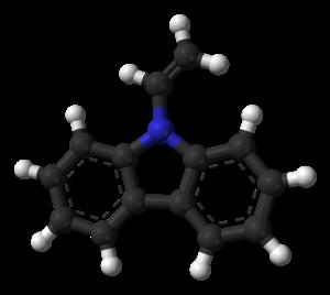N-Vinylcarbazole - Image: N vinylcarbazole from xtal 3D balls