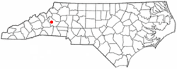 Location of Glen Alpine, North Carolina