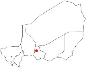 Dakoro - Location of Dakoro in Niger