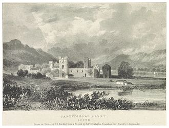 Carlingford Abbey - 1830 sketch of the abbey