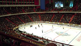 Ericsson Globe - The NHL premiere 2011-2012. Anaheim vs NY Rangers.