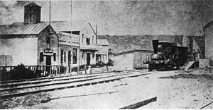 Natal Railway Company - The Natal arriving at Point Station, 26 June 1860