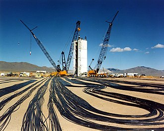 Underground nuclear weapons testing - Preparation for an underground nuclear test at the Nevada Test Site in the 1990s