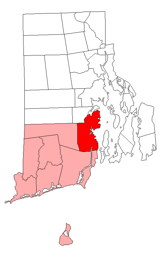 Location of North Kingstown in Washington County, Rhode Island