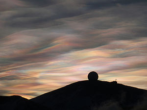 Antarctic stratospheric cloud (nacreous clouds)