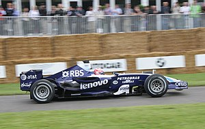 Kazuki Nakajima - Nakajima driving the Williams FW29 at the 2007 Goodwood Festival of Speed.