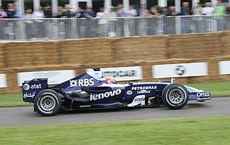 Kazuki Nakajima - Nakajima driving the Williams FW29 at the 2007 Goodwood Festival of Speed.
