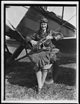 Nancy Bird standing in front of her plane, New South Wales, 22 August 1933 (16289745885).jpg