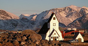 Demographics of Greenland - Most Greenlandic villages, including Nanortalik, have their own church.