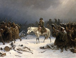 Withdrawal (military) - Napoleon's withdrawal from Moscow