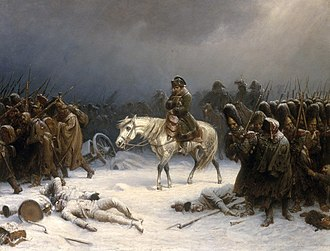 Military logistics - Napoleon's disastrous retreat from Moscow, caused by Russian scorched-earth policy and lack of military logistics
