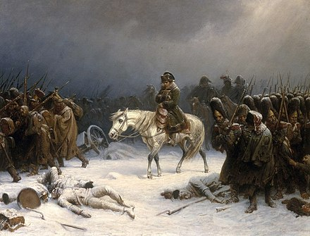 Napoleon's retreat from Russia in 1812 Napoleons retreat from moscow.jpg