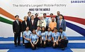 Narendra Modi and the President of the Republic of South Korea, Mr. Moon Jae-in in a group photograph at the inauguration of the Samsung manufacturing plant, World's Largest Mobile Factory, in Noida, Uttar Pradesh.JPG