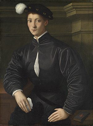 Portrait of Ugolino Martelli - Portrait of Ugolino Martelli, oil on panel, 91.4 x 68 cm. National Gallery of Art
