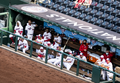 Nationals dugout in between at bats from Nationals vs. Braves at Nationals Park, April 6th, 2021 (All-Pro Reels Photography) (51101542676).png