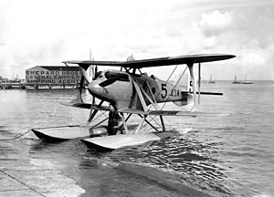 Navy-Wright NW - Navy-Wright NW-2 during testing at Cowes, Isle of Wight, 1923