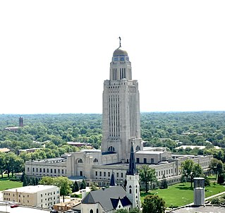 Nebraska State Capitol government building in Lincoln, Nebraska