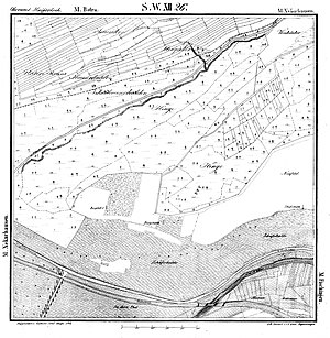 There are 2 castle stables shown on the 1842 map