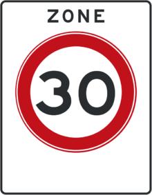 Afbeeldingsresultaat voor verkeersborden 30 km zone