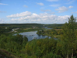 Näätämö (river) - View of the village of Neiden