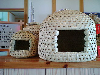 Rice paper - Neko chigura, a kind of cat house made of rice straw.