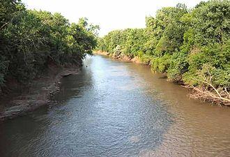Neosho River - Neosho River near Neosho Rapids, Kansas