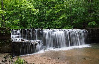 Nerstrand-Big Woods State Park - Hidden Falls, a small waterfall on Prairie Creek