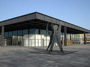 Neue Nationalgalerie - Neue Nationalgalerie with Alexander Calder sculpture