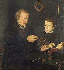 Portrait of Nuremberg Master Johann Neudörffer and a Student