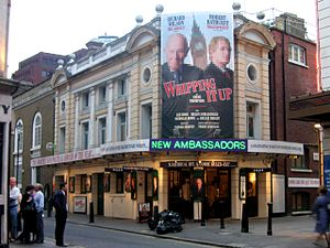 Robert Bathurst - The Ambassadors Theatre, where Bathurst appeared in a theatrical play Whipping It Up