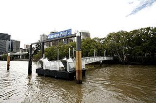 QUT Gardens Point ferry wharf