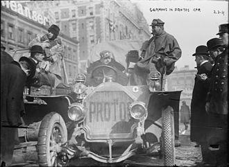 1908 New York to Paris Race - Germans in Protos car 1908 New York to Paris Race