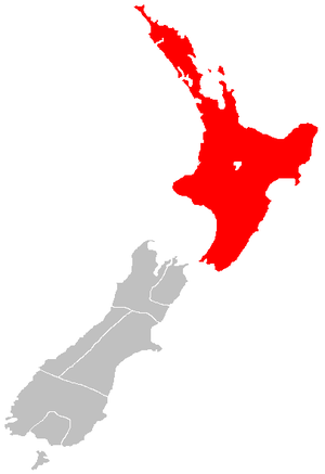 North Island - The North Island, in relation to the South Island