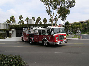 Newport Beach Fire Department - Image: Newport beach fd truck 63