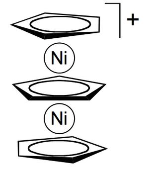 Metallocene - Nickel triple-decker sandwich complex