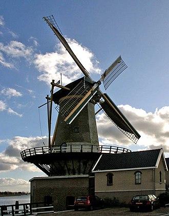 "Zuidplas - Wind mill ""Windlust"" in Nieuwerkerk aan den IJssel"