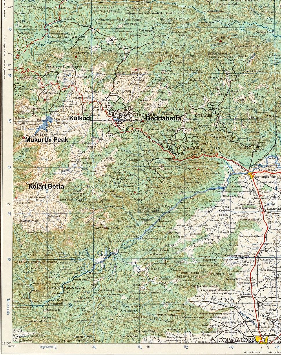 Nilgiri Hills Topo