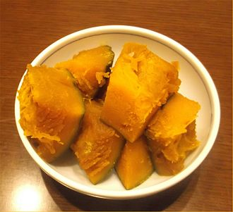 Kabocha - Image: Nimono of japanese pumpkin 2014
