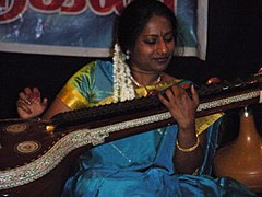 Nirmala Rajasekar performing live in India.jpg